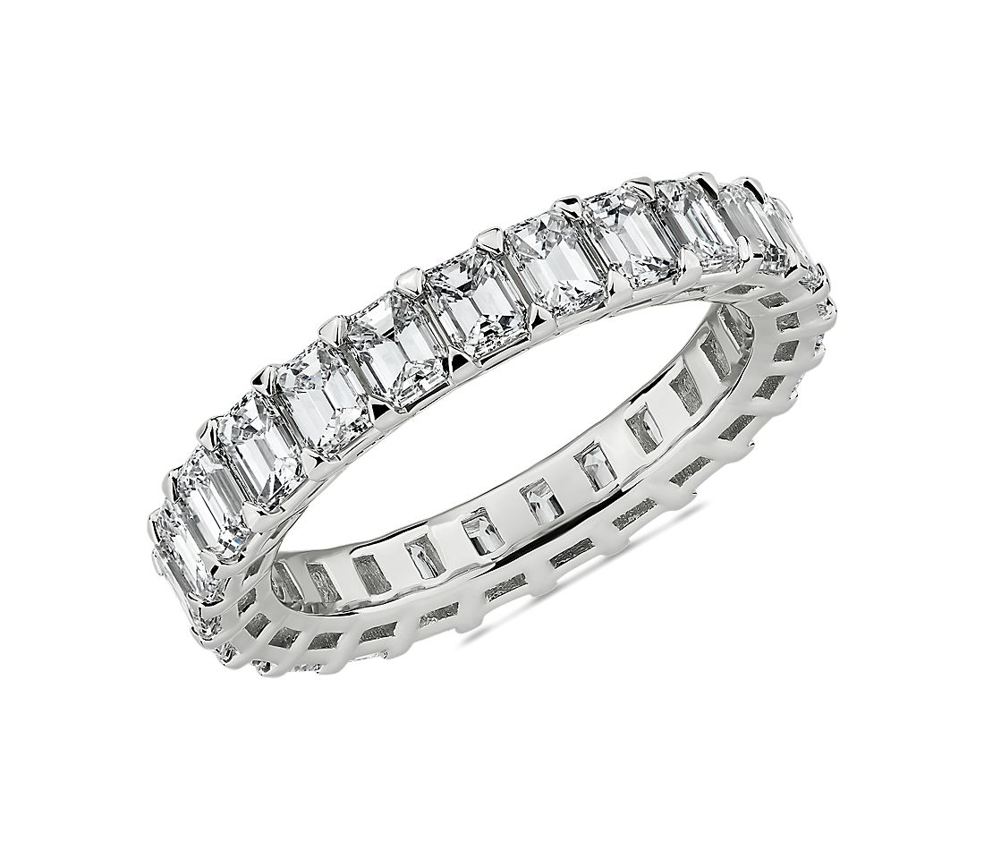 Blue Nile Studio Seamless Emerald Cut Diamond Eternity Band in Platinum- G/VS2 (3 ct. tw.)