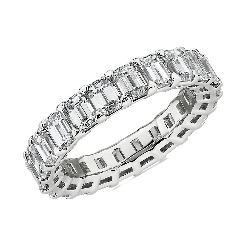 Blue Nile Studio Seamless Emerald Cut Diamond Eternity Band in Platinum- G/VS2 (5 ct. tw.)