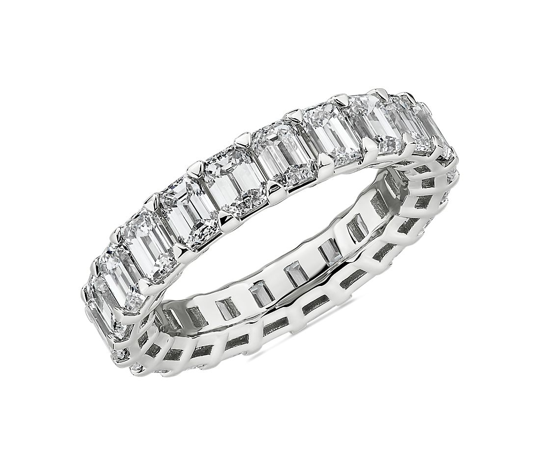 Blue Nile Studio Seamless Emerald Cut Diamond Eternity