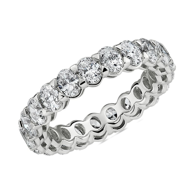 Blue Nile Studio Seamless Oval Diamond Eternity Band in Platinum- G/VS2 (3 ct. tw.)