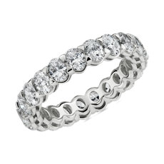 NEW Blue Nile Studio Seamless Oval Diamond Eternity Band in Platinum- G/VS2 (3 ct. tw.)
