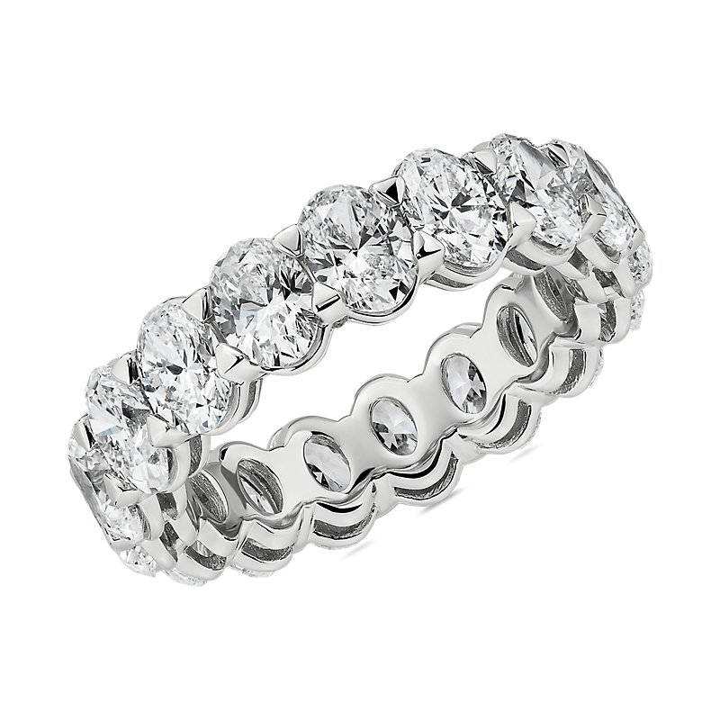 Blue Nile Studio Seamless Oval Cut Diamond Eternity Band in Plati