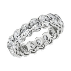 Blue Nile Studio Seamless Oval Cut Diamond Eternity Band in Platinum- G/VS2 (5 ct. tw.)