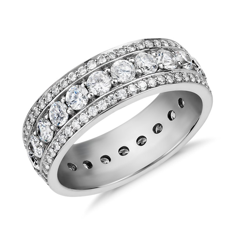 Blue Nile Studio Stella Diamond Eternity Ring in Platinum (2 ct.