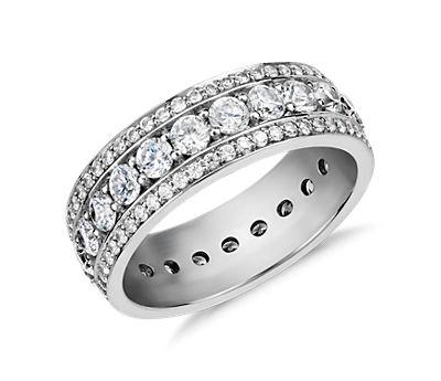 Blue Nile Studio Stella Diamond Eternity Ring in Platinum