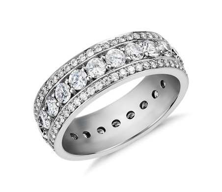 Blue Nile Studio Stella Diamond Eternity Ring in Platinum (2 ct. tw.)