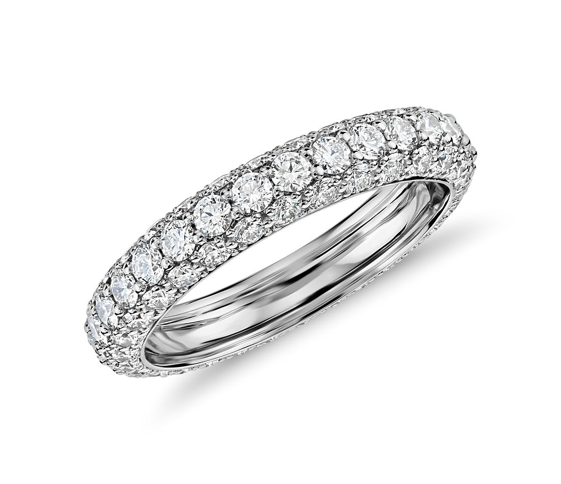 Blue Nile Studio Triple Row Diamond Eternity Ring In