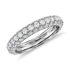 Blue Nile Studio Triple Row Diamond Eternity Ring in Platinum (1.89 ct)