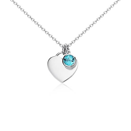 Blue Nile Mixed Shape Blue Topaz Necklace in Sterling Silver Xep9E