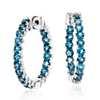 London Blue Topaz Hoop Earrings in Sterling Silver (2.5mm)