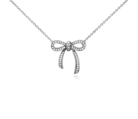 Blue Nile Mini Bow Necklace in 14k Yellow Gold cuIHTg