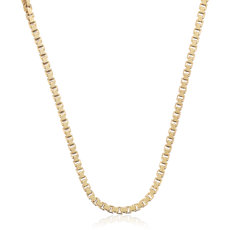 Box Chain in 14k Yellow Gold (0.9mm)