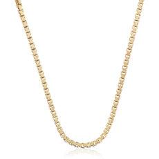 14k 金盒子链<br>(0.9毫米)