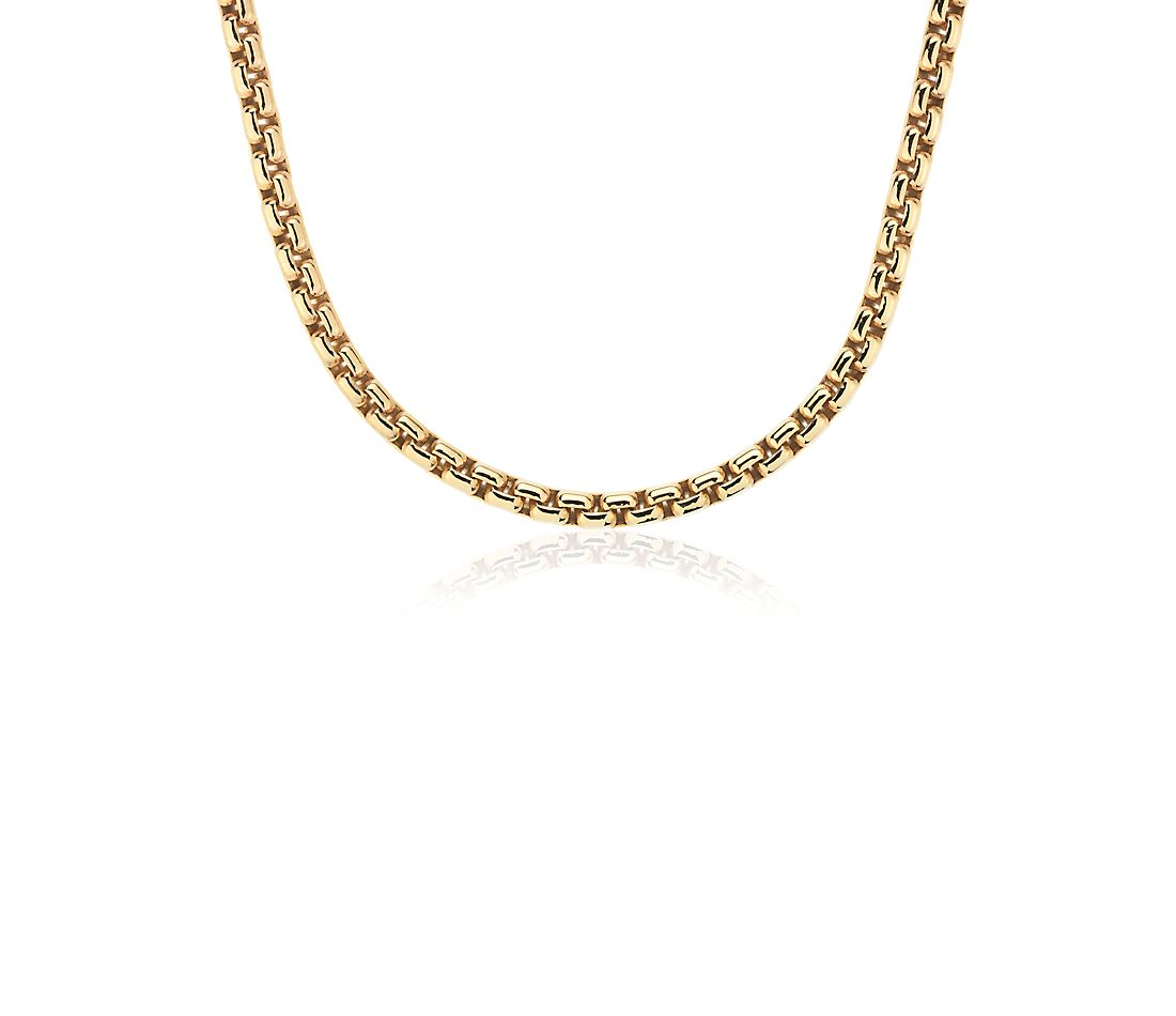 Box Chain Necklace in 18k Yellow Gold