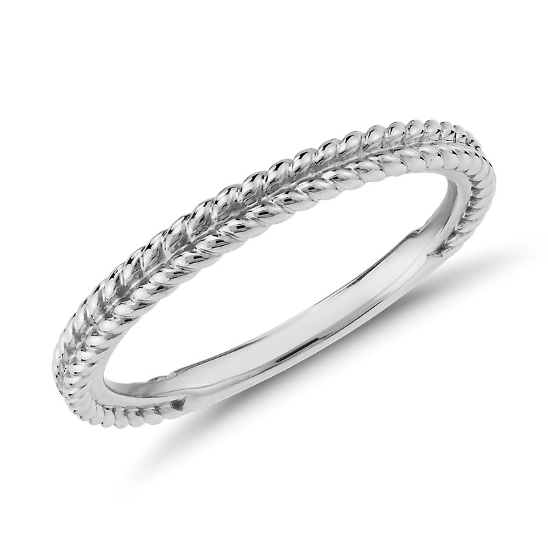 Braided Wedding Band in Platinum