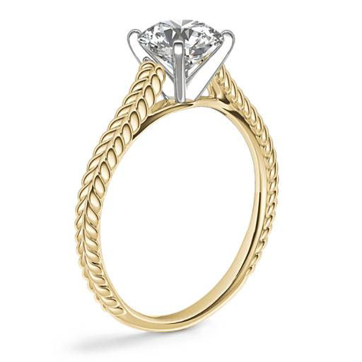 Braided Cathedral Solitaire Engagement Ring