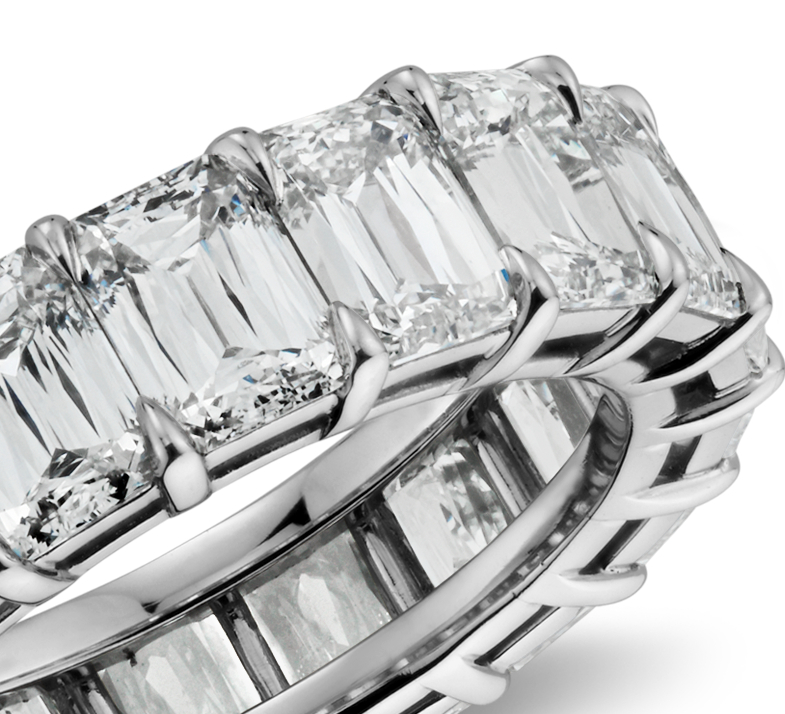 Brilliant Emerald Cut Diamond Eternity Ring in Platinum (8.50 ct. tw.)