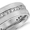 Brushed Diamond Eternity Men's Wedding Ring in Platinum (1/2 ct.tw.)
