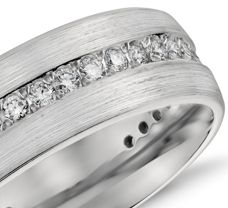 Alliance pour hommes éternité diamant poli en platine (1/2carat, poids total)