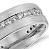 Brushed Diamond Eternity Men's Wedding Ring in 14k White Gold (1/2 ct.tw.)