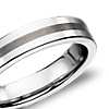Brushed Center Flat Ring in Gray Tungsten Carbide (5mm)
