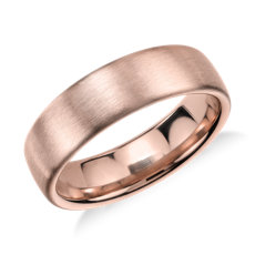 Alliance moderne et confortable mate en or rose 14 carats (5,5 mm)