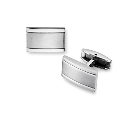 Blue Nile Brushed and Polished Cuff Links in Stainless Steel FHeO1qWc1I