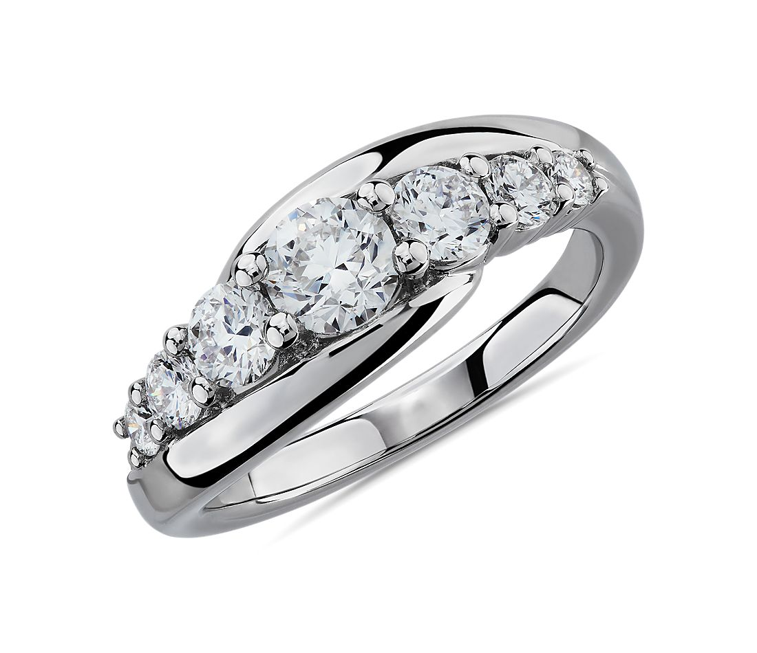 Bypass Fashion Ring in 14k White Gold (1 ct. tw.)