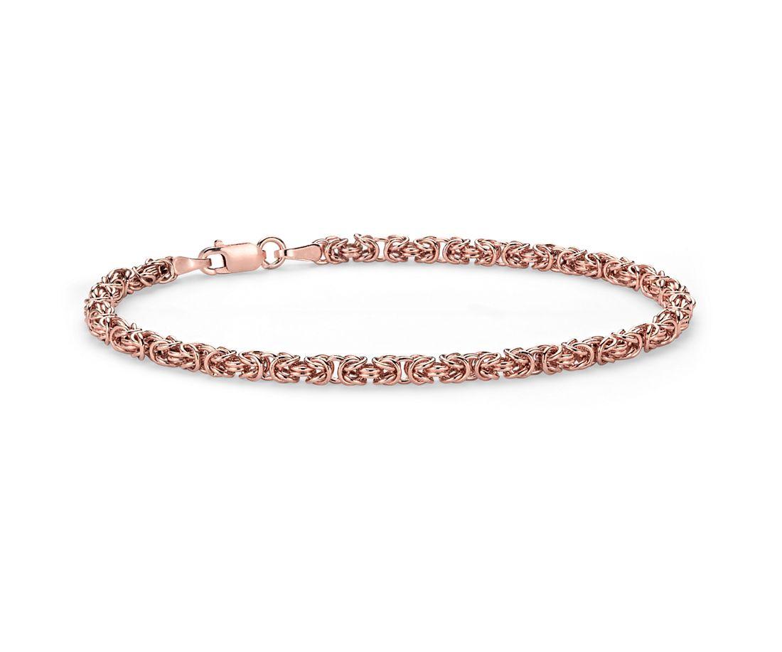 Petite Byzantine Bracelet in 14k Rose Gold