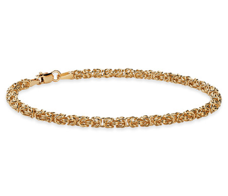 Blue Nile Petite Byzantine Necklace in 14k Italian Yellow Gold 9Su1W