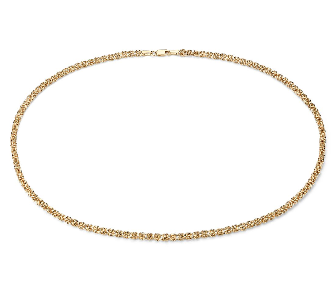 Petite Byzantine Necklace in 14k Italian Yellow Gold