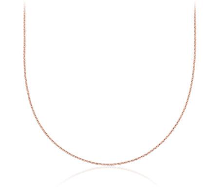 14k 玫瑰金缆绳状链