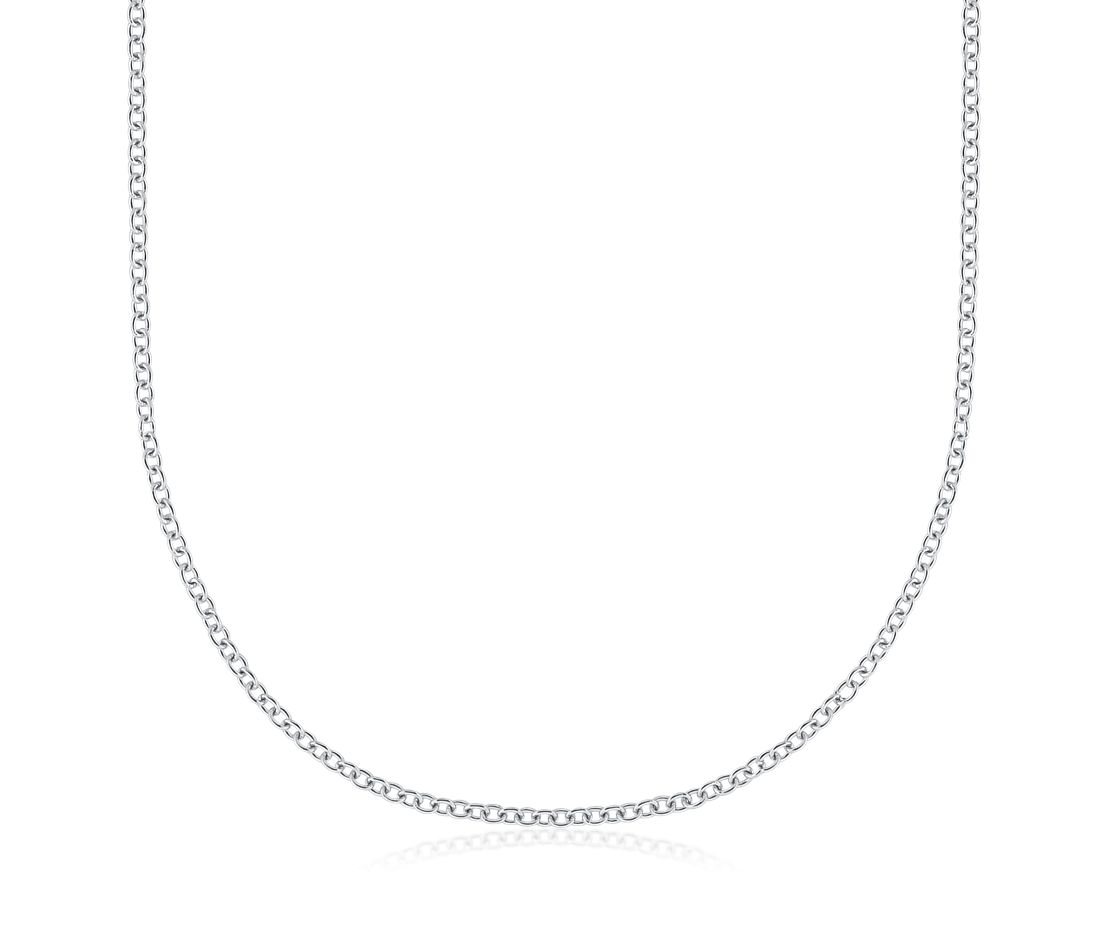 Cable Chain in 18k White Gold