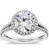 1 克拉鉑金 Blue Nile Studio 劍橋光環鑽石訂婚戒指,現貨供應