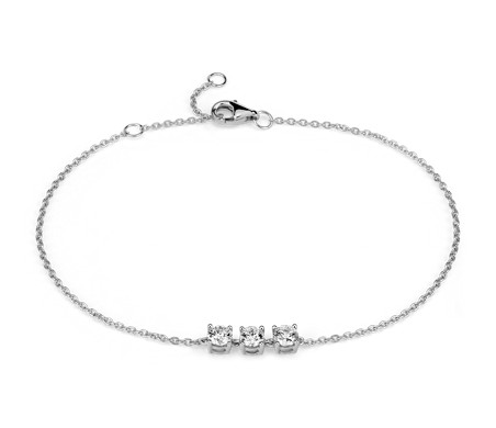 Bracelet en diamants canadiens en or blanc 18 carats (5/8 carat, poids total)