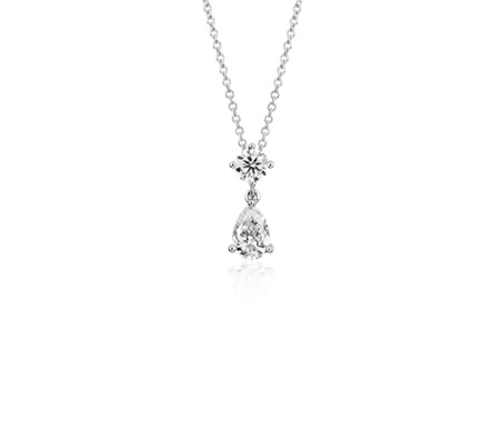 Canadian Diamond Drop Pendant in 18k White Gold (3/4 ct. tw.)
