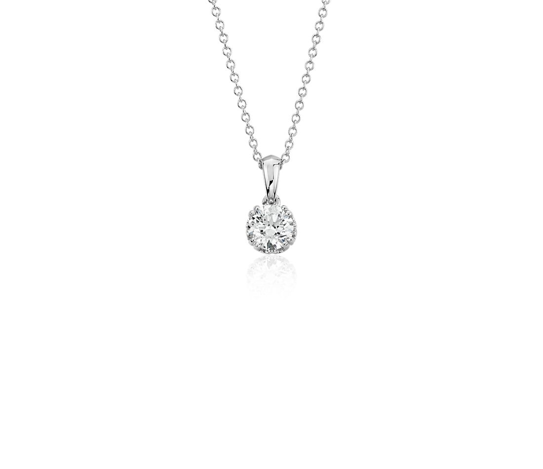 Canadian Diamond Solitaire Pendant in 18k White Gold (1/2 ct. tw.)