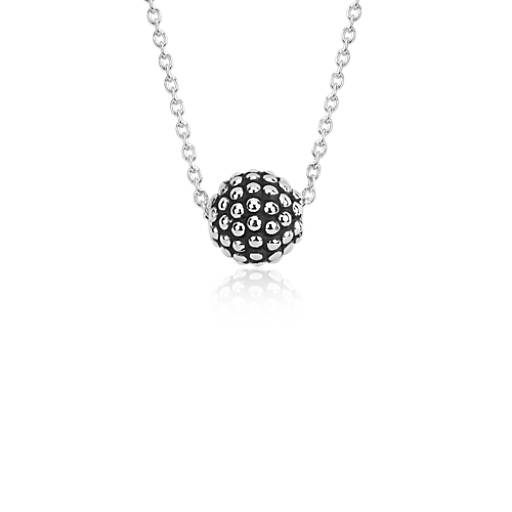 caviar beaded pendant in sterling silver blue nile