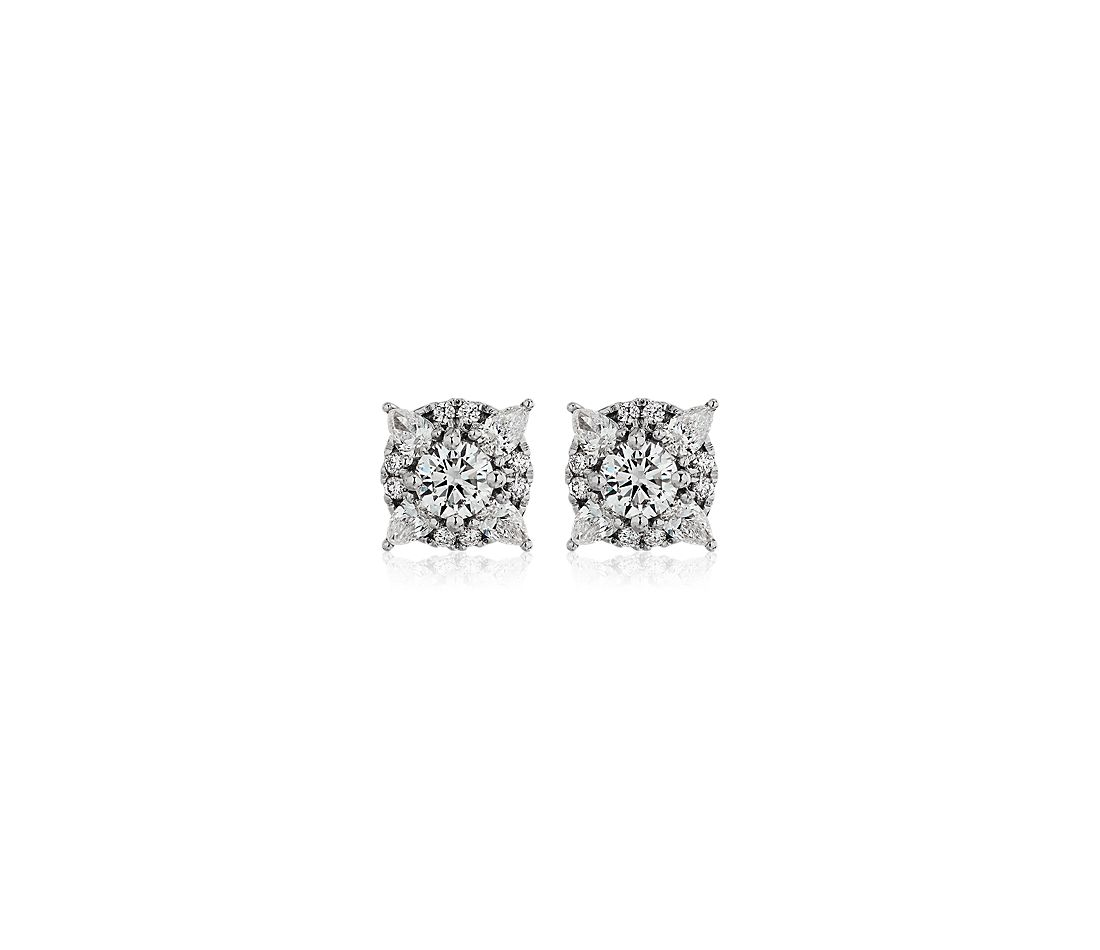 Celestial Diamond Earrings in 14k White Gold (0.73 ct. tw.)