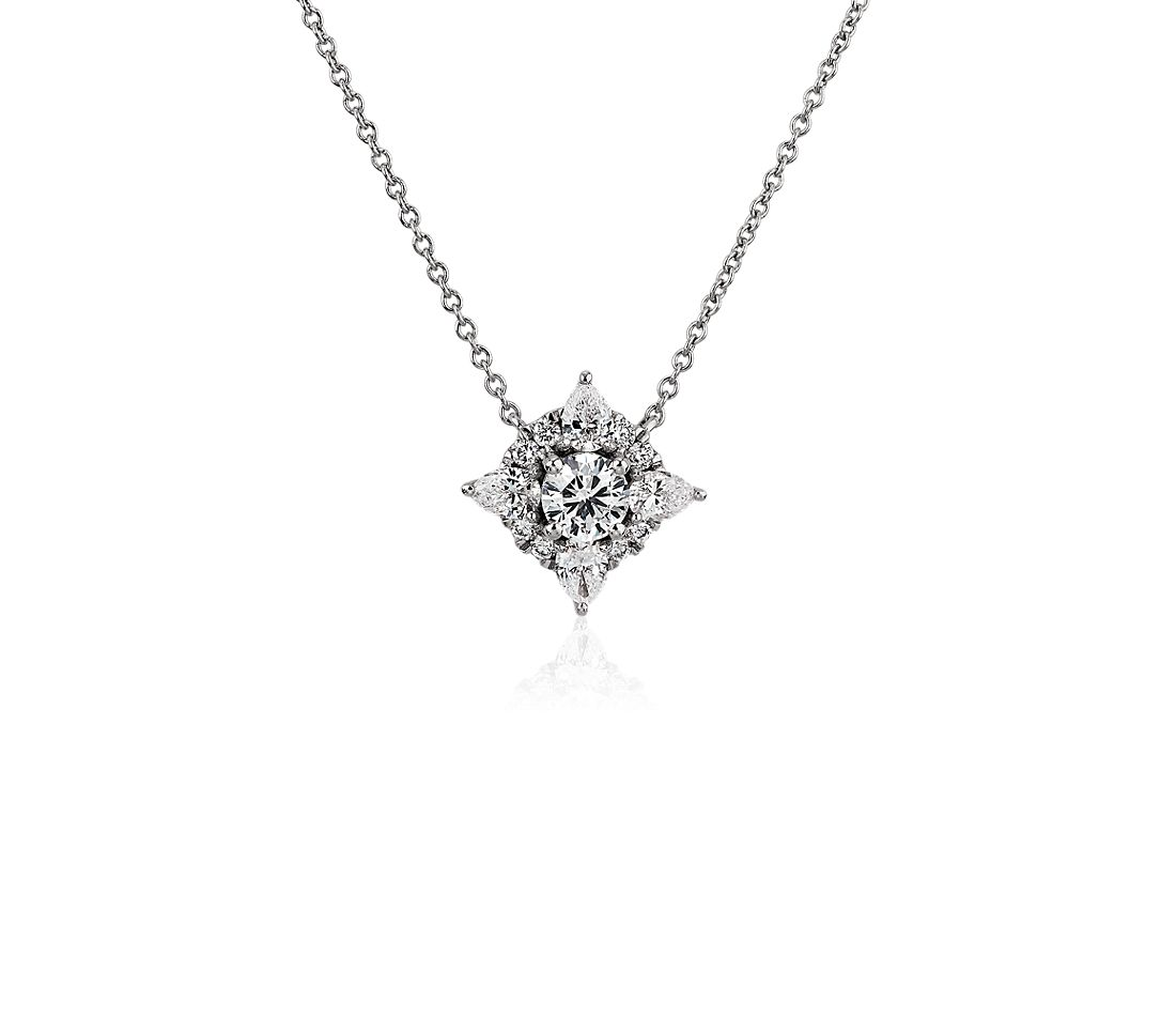 Celestial Diamond Pendant in 14k White Gold (3/4 ct. tw.)