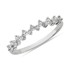 NEW Celestial Stacking Ring in 14k White Gold (1/8 ct. tw.)
