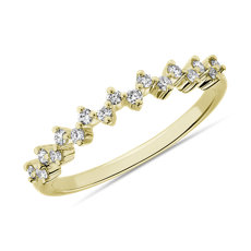 NEW Celestial Stacking Ring in 14k Yellow Gold (1/8 ct. tw.)