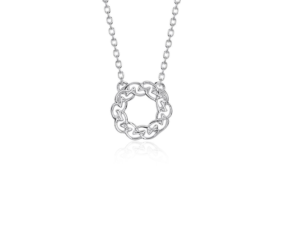 Celtic Circle Knot Necklace in Sterling Silver