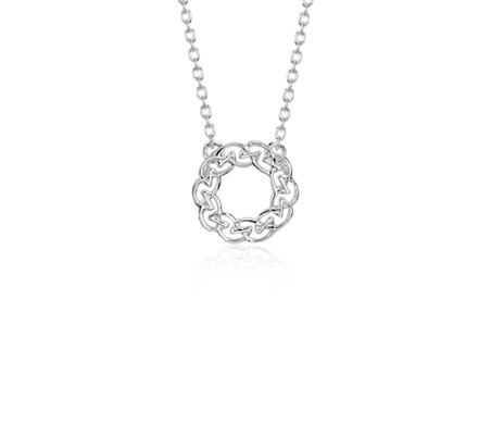Collier à nœud type cercle celtique en argent sterling