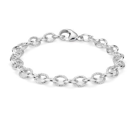Bracelet chaîne à maillons en argent sterling