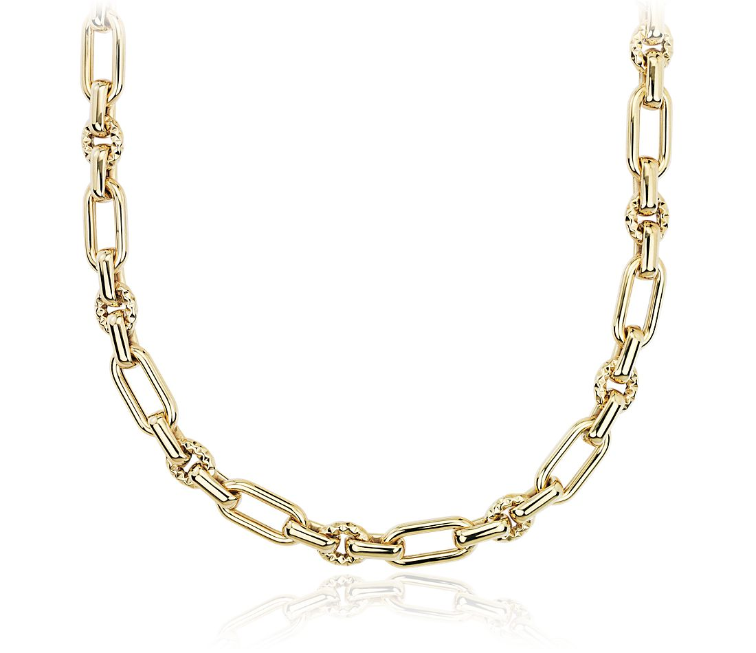 Chain Link Necklace in 14k Yellow Gold