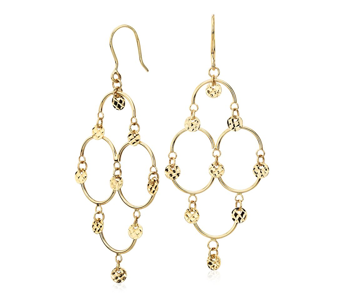Chandelier Earrings in 14k Yellow Gold