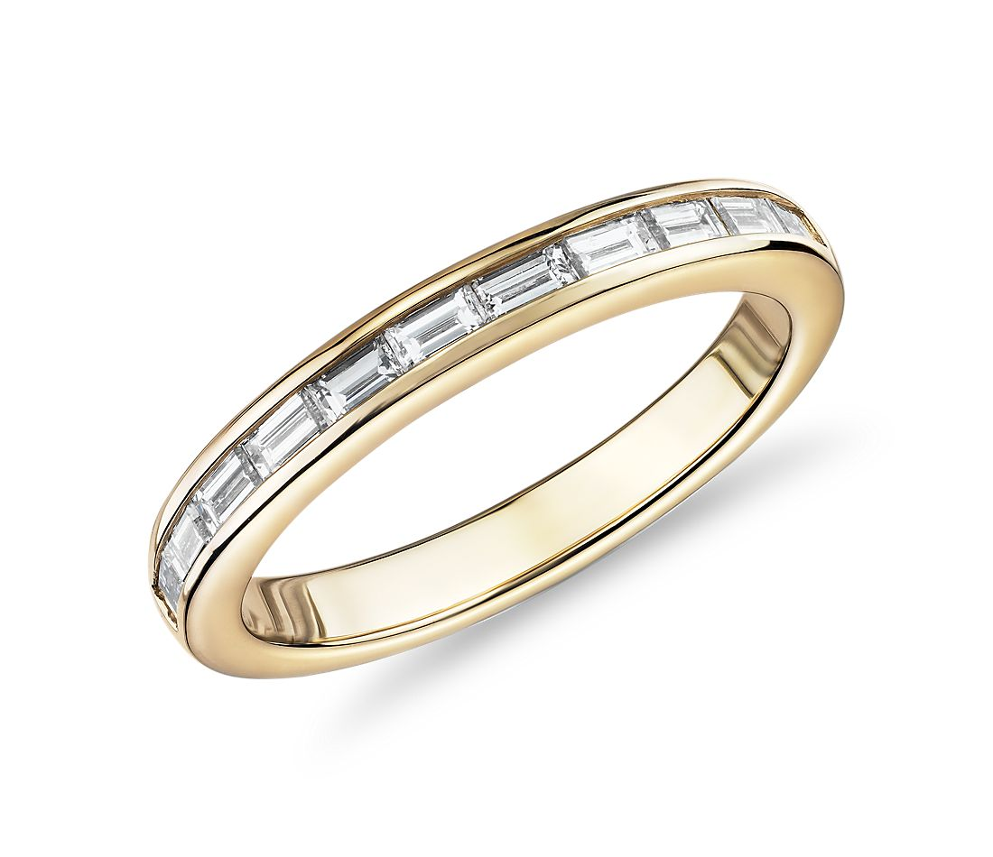 Channel-Set Baguette Diamond Ring in 14k Yellow Gold (1/2 ct. tw.)