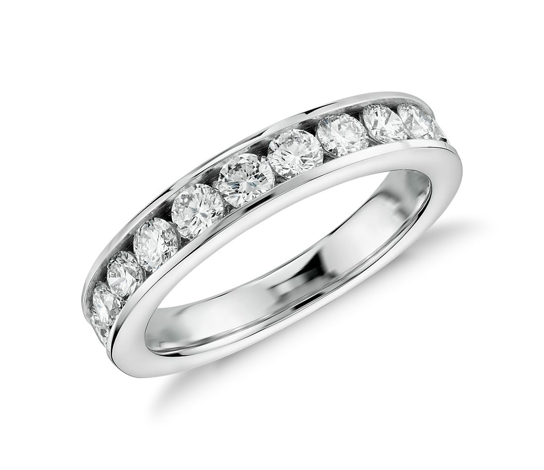 Channel-Set Diamond Ring In 14k White Gold (1 Ct. Tw
