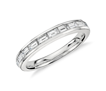 Channel-Set Baguette-Cut Diamond Ring in Platinum (2/3 ct. tw.)